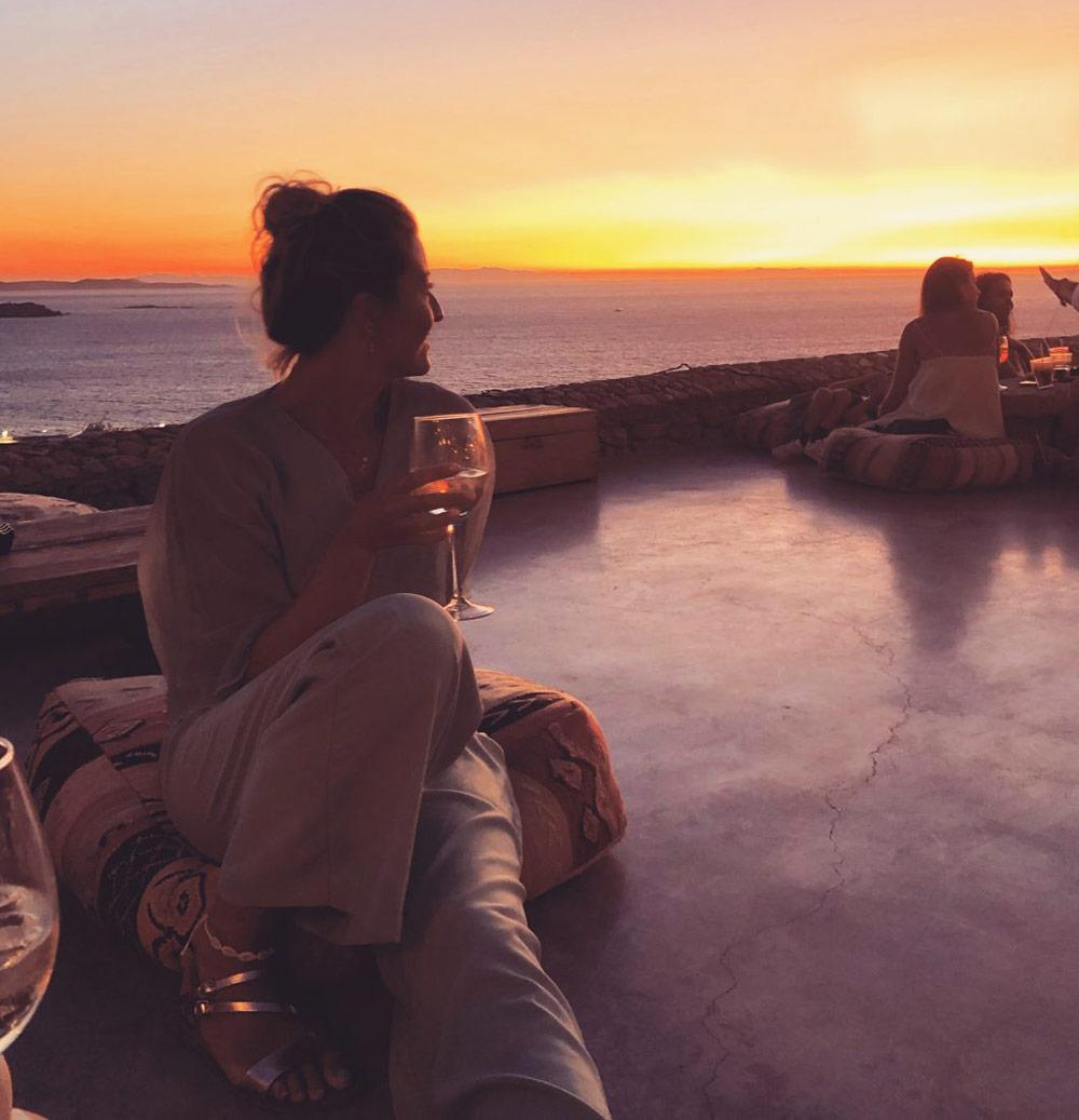 couché de soleil à Mykonos